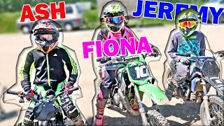 MOTOCROSS mit FIONA und JEREMY 😁 WIE GUT ist ein BENZIN KINDER MOTORRAD ? 🤣 ASH
