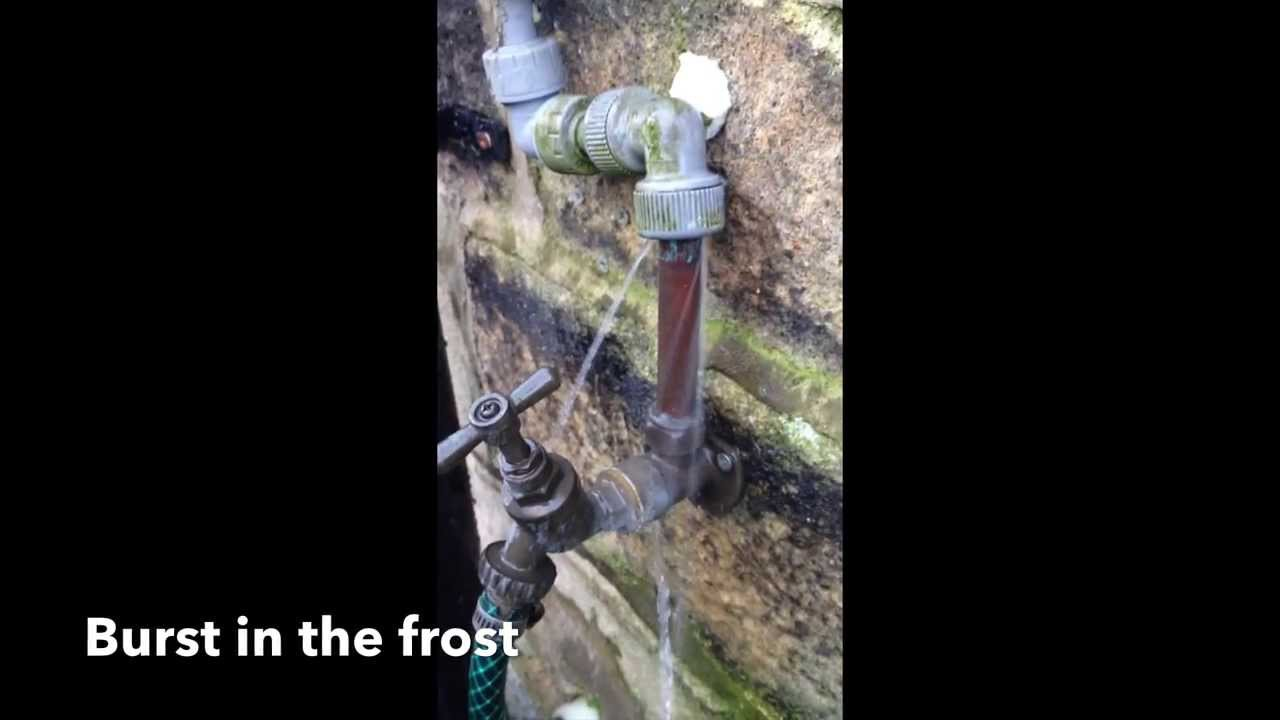 Prevent outside tap from freezing - YouTube
