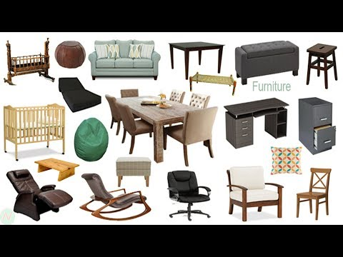 Furniture Names, Meaning & Picture | Furniture Vocabulary | Necessary Vocabulary Tutorial