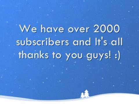 Thank you! - 2000 subscribers!!