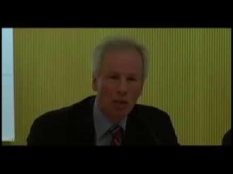 Stéphane Dion a la Facultat de Filosofia de la Universitat de Barcelona