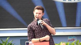 "American Idol Scotty McCreery sings ""I Love You This Big"" at Disney World"