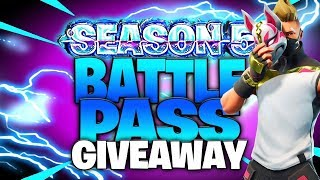 NEW SMG Gameplay - BATTLE PASS GIVEAWAY - Fortnite Battle Royale - 840+ Wins 10,000+ Kills