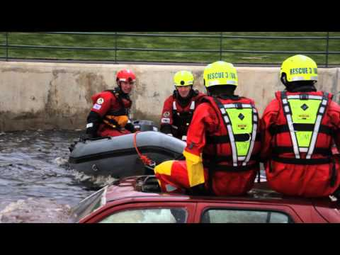 RESCUE 3 at TEES BARRAGE INTERNATIONAL WHITE WATER CENTRE