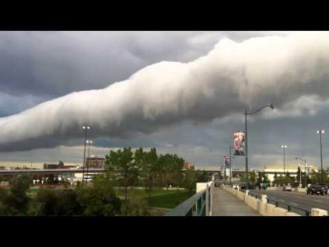 Roll cloud over Calgary, Canada