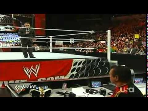 WWE RAW 14/3/11 Michael Cole & Jack Swagger & Brya...