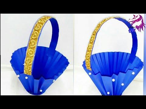 Diy paper basket || Queen's home|| paper art