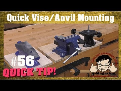 Woodworkers need a removable machinist vise/anvil mounting system!