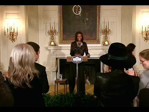 The First Lady and Alicia Keys Discuss Education at the White House