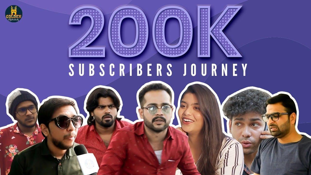 Journey of 200K Subscribers | Thank You 200K Subscribers | Abdul Razzak | Golden Hyderabadiz