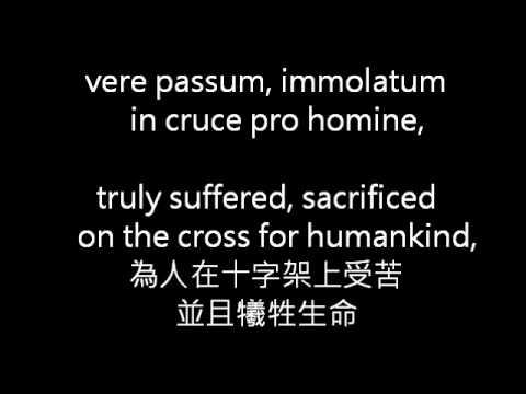 Ave Verum Corpus: Latin and Translation
