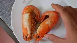 Deep fried Giant River Prawn recipe - Udang Galah Goreng Kunyit (ASMR no talking)