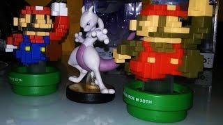 Amiibo Mewtwo & Mario Modern Colours  [Unboxing]