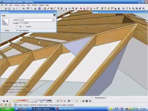 Model and Measure Hip Rafters De-mystified by Measuring in SketchUp.wmv