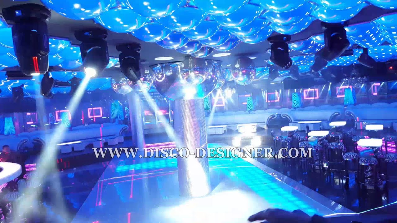 complete nightclub design with led disco panel dj light studio