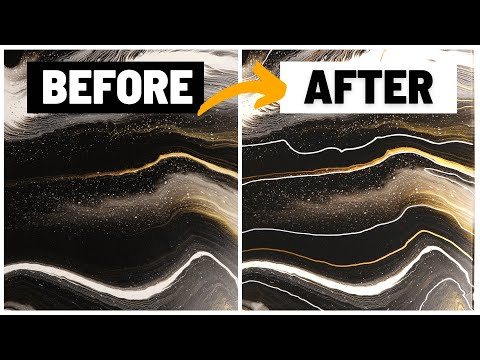 How to Embellish an Acrylic Pour Painting