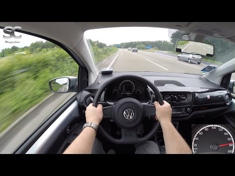 VW Up! 1.0 MPI BlueMotion (2016) On German Autobahn - POV Top Speed Drive