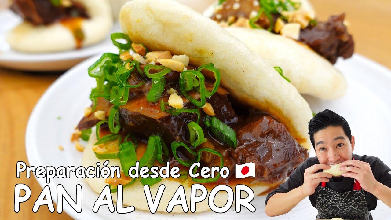 """Pan al vapor """"Bao"""" con carne de Res, preparación desde Cero   Cocina japonesa con Yuta"""