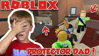 STAY BEHIND MY DADDY, HE WILL PROTECT US in ROBLOX MURDER MYSTERY 2  SHERIFF DAD