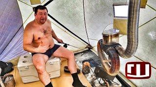 Вездеход Шерп Рыбалка на ЛЬДУ ОНЕГО! день 3