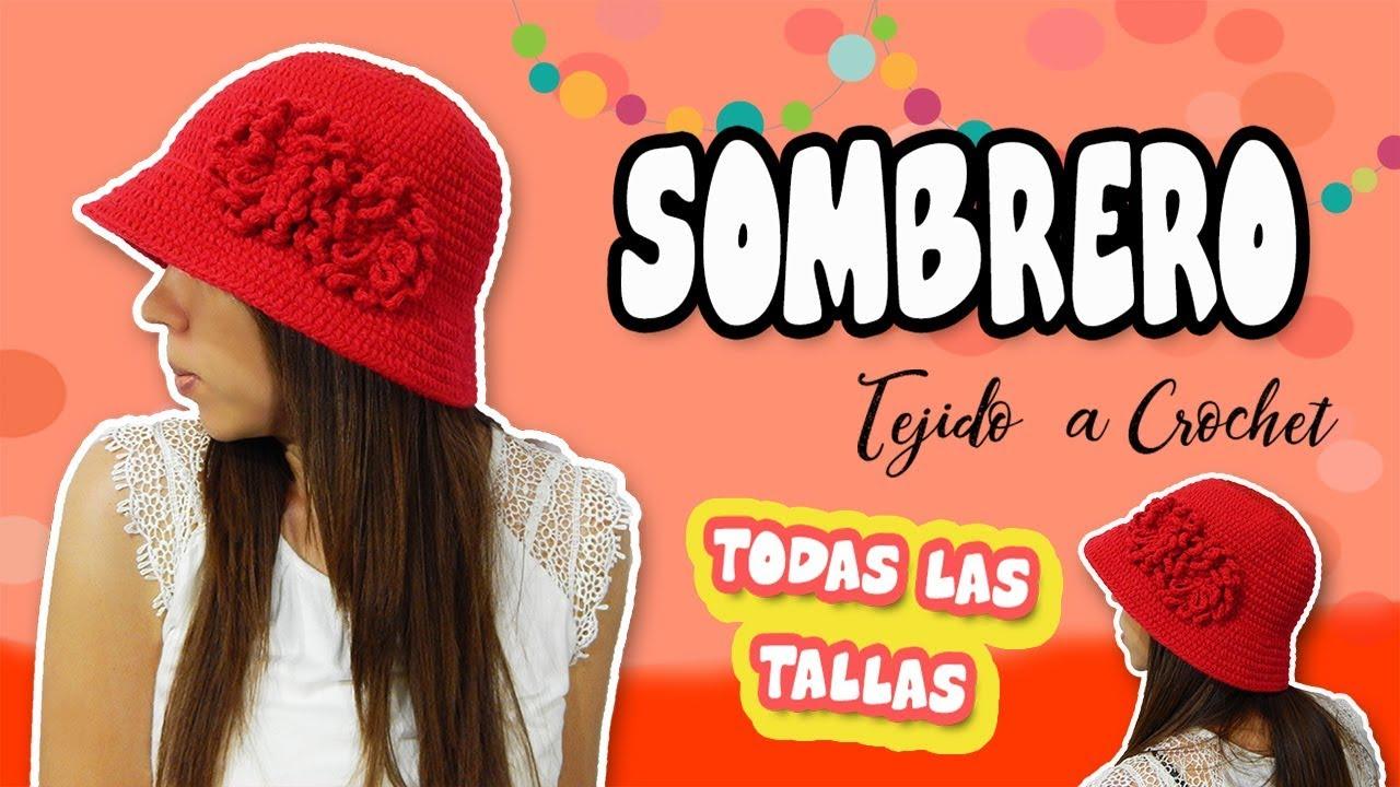 Gorro - Sombrero tejido a Crochet o Ganchillo | TODAS LAS TALLAS ...