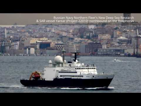 Russian Navy Deep Sea Research & SAR vessel Yantar on Bosphorus