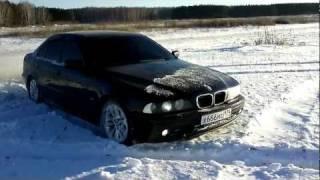 BMW 530 D (E39) газим по снегу