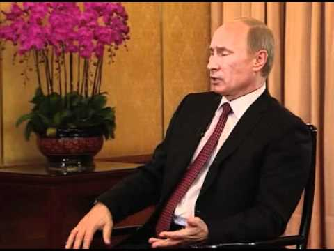Putin gives an interview to Xinhua news agency and CCTV's Channel 1