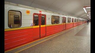 Poland, Warsaw, metro ride from Pole Mokotowskie to Politechnika, 1X elevator, 1X escalator