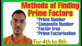 Method of finding Prime Factors. For 4th to 8th std. Navodaya and Scholarship Topic