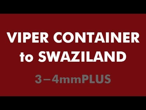 VIPER Container Wholesale Used Tyres to SWAZILAND 3-4mmPLUS - Nov 2017