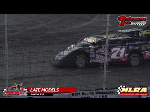 NLRA Late Model Highlights – River Cities Speedway – June 30th, 2017