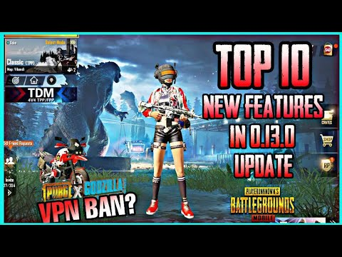 0 13 0 Pubg Mobile Update New Map Godzilla Theme And New Features