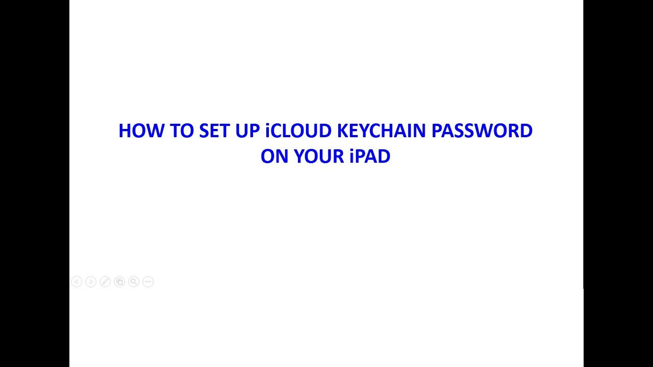 how do you reset your icloud keychain password