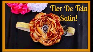 Como Hacer Una Flor De Tela Satin ( Flor Quemada )