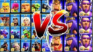 EVERY SINGLE TROOP vs ALL MAX HEROES!! - Clash Of Clash