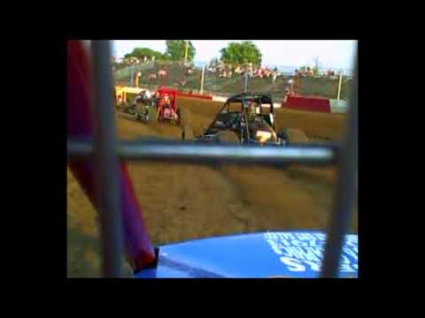 Rob Botts Sprint Car on board at Terre Haute Action Track 07 03 06
