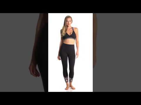 Beyond Yoga Badlands High Waisted Strappy 7/8 Yoga Leggings | SwimOutlet.com