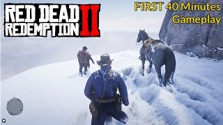 Red Dead Redemption 2 - First 40 Minutes Gameplay - PS4 PRO (RDR2)