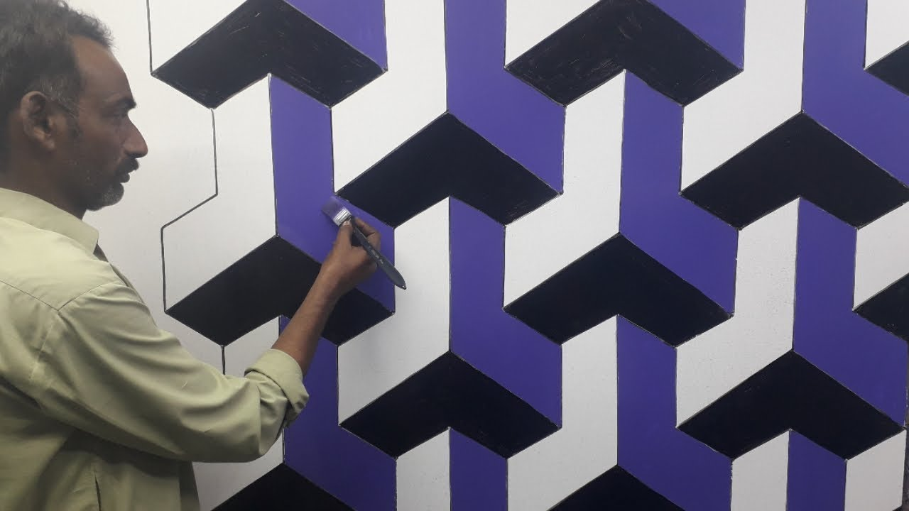 3d wall texture design | 3d wall painting | 3d wall decoration effect design ideas | interior design #1