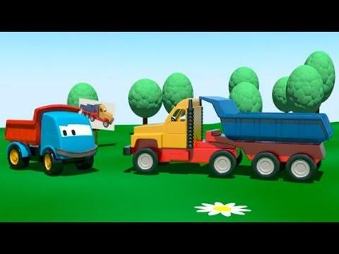 L o le camion curieux la d panneuse apprendre les - Leo le camion pompier ...