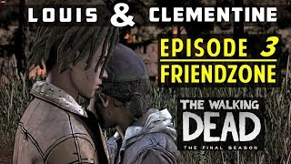 [Louis & Clementine] All Moments from Episode 3 - The Walking Dead (Louis in Friendzone)