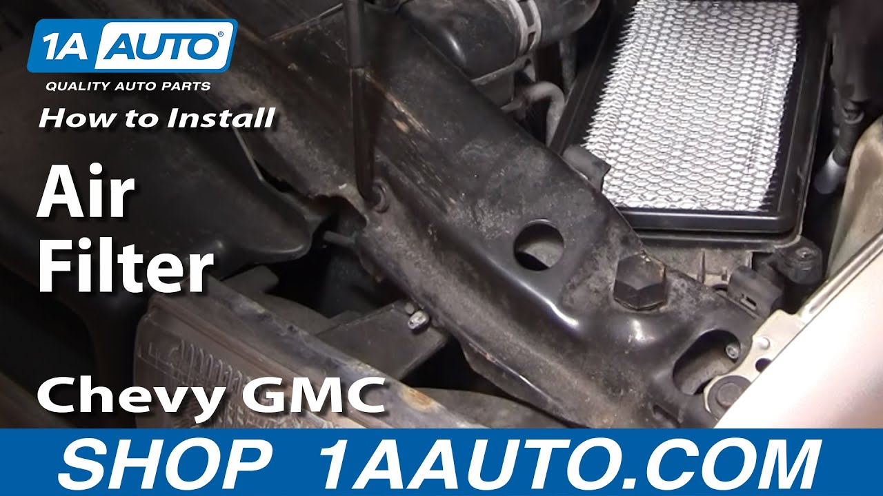 How To Install Replace Air Filter Chevy GMC S10 Blazer