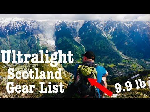 Ultralight TGO Thru-Hike Gear List (9.9lbs)