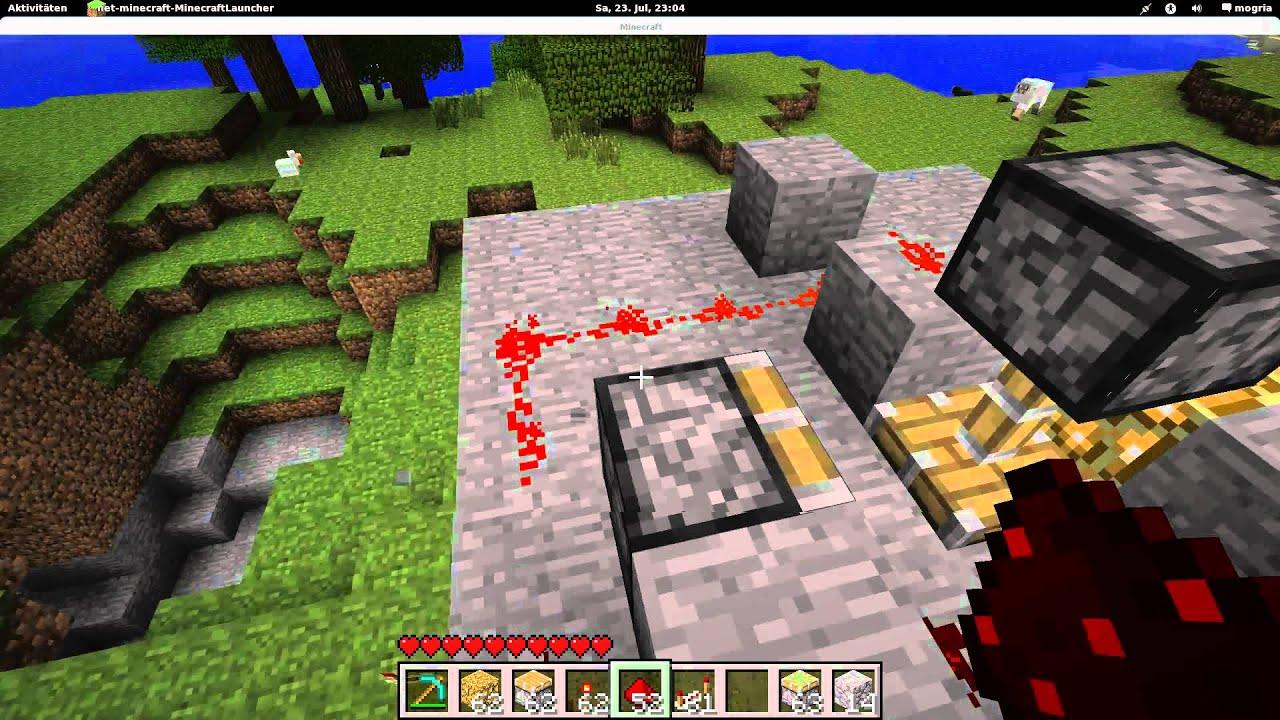 Minecraft Eine Lampe Mit Glowstone Und Pistons Machen Youtube