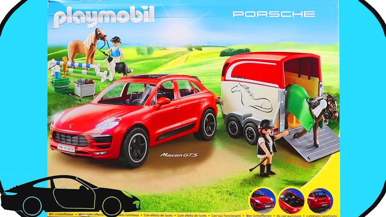 playmobil porsche macan transporter playset 9376 toys. Black Bedroom Furniture Sets. Home Design Ideas
