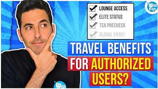 Travel Benefits For Authorized Users On Travel Credit Cards