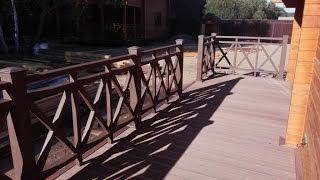 Монтаж ограждений и террасной доски из древесно-полимерного композита (ДПК).(, 2016-12-03T15:39:42.000Z)