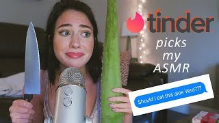I let TINDER pick my ASMR thumbnail