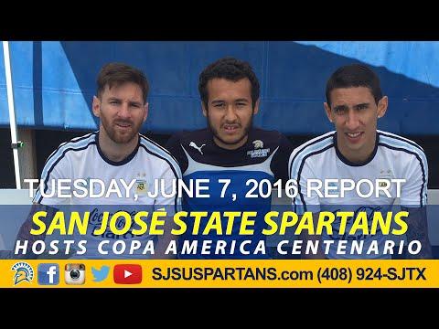 MESSI & ARGENTINA SOCCER- LAST DAY AT SJSU (6/7/16)